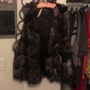 Multicolor faux fur vest 3 XL